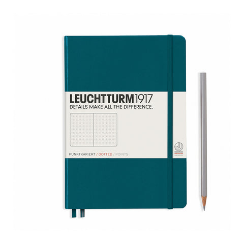 Leuchtturm1917 A5 Hardcover Notebook - Pacific Green - Dotted