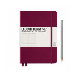 Leuchtturm1917 A5 Hardcover Notebook - Port Red -  Dotted