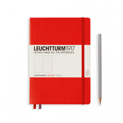 Leuchtturm1917 A5 Hardcover Notebook - Red - Dotted