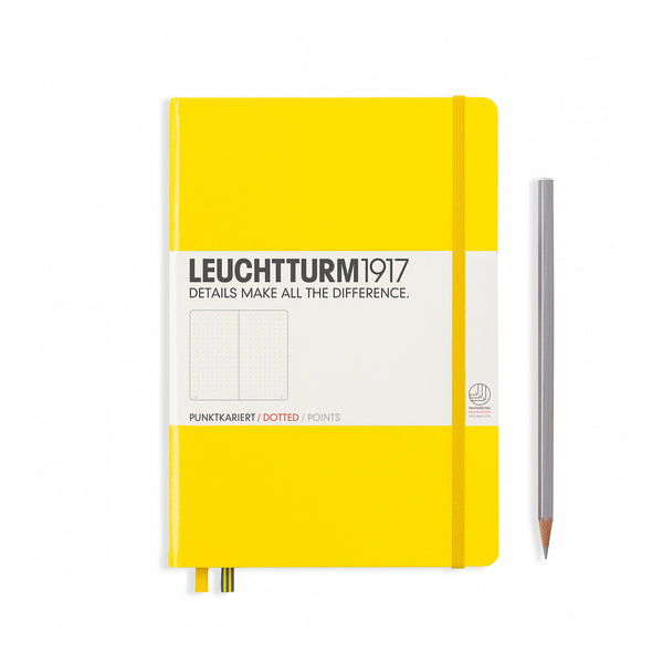 Leuchtturm1917 A5 Hardcover Notebook - Yellow - Dotted