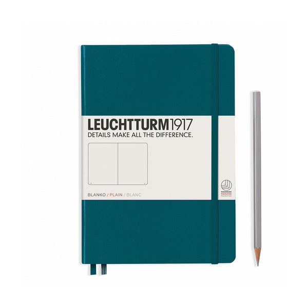 Leuchtturm1917 A5 Hardcover Notebook - Pacific Green - Plain