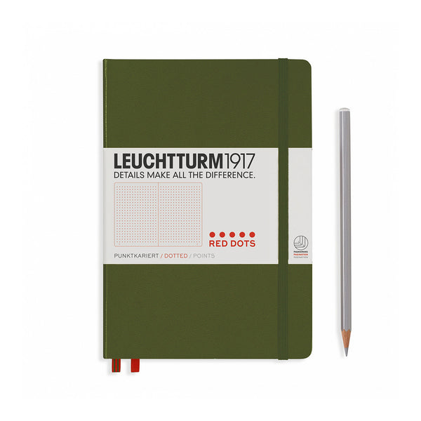Leuchtturm1917 Red Dots A5 Army Green