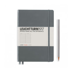 Leuchtturm1917 A5 Hardcover Notebook - Anthracite - Ruled