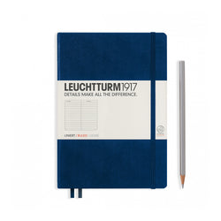 Leuchtturm1917 A5 Hardcover Notebook - Navy - Ruled