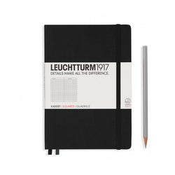 Leuchtturm1917 A5 Hardcover Notebook - Black - Squared