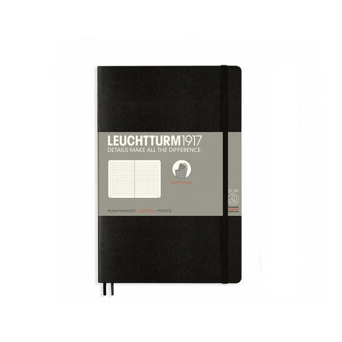 Leuchtturm1917 B6 Soft Cover Notebook - Black - Dotted