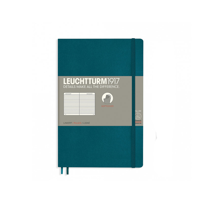 Leuchtturm1917 B6 Soft Cover Notebook - Pacific Green - Ruled