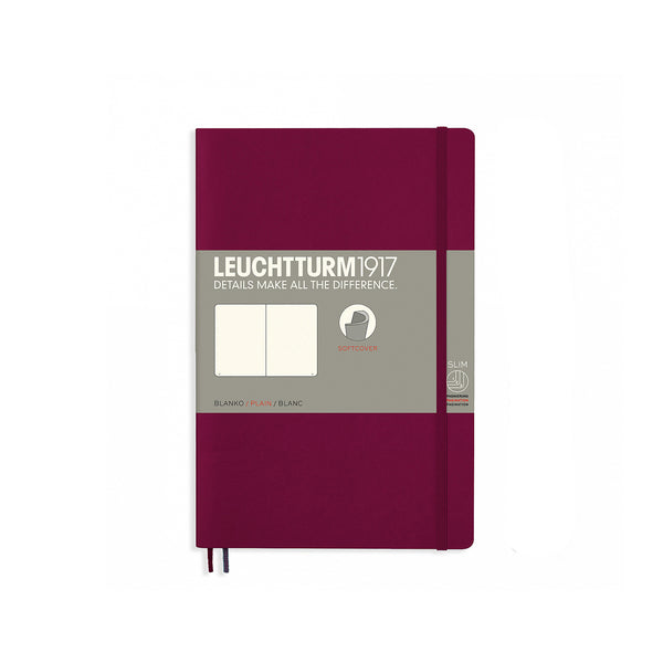 Leuchtturm1917 B6 Soft Cover Notebook - Port Red - Plain