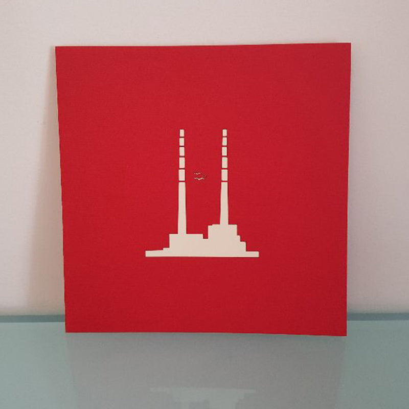 Poolbeg Chimneys Pop Up Card