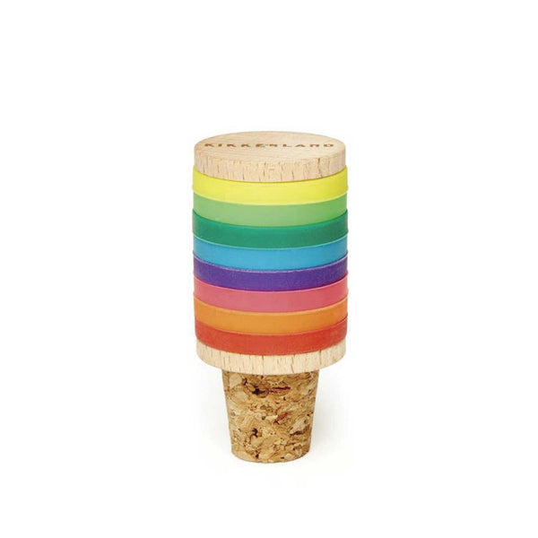 Rainbow Wine Rings and Stopper