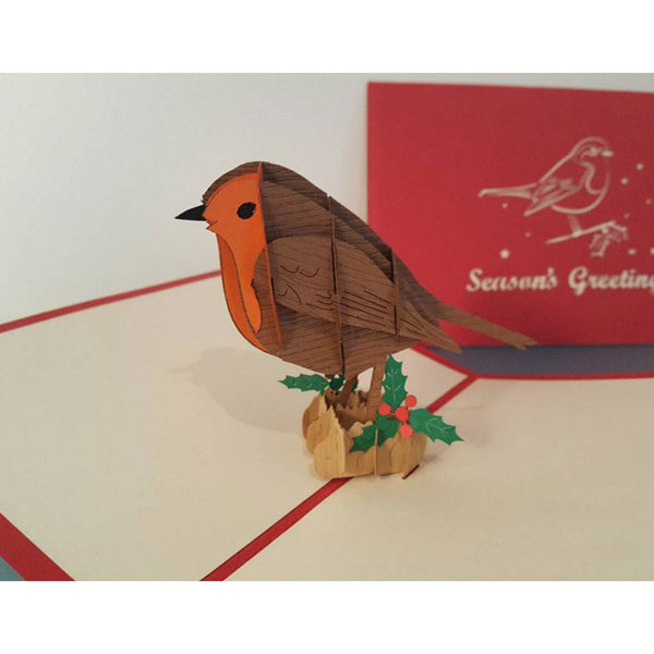 Red Robin - Seasons Greetings Pop Up Card