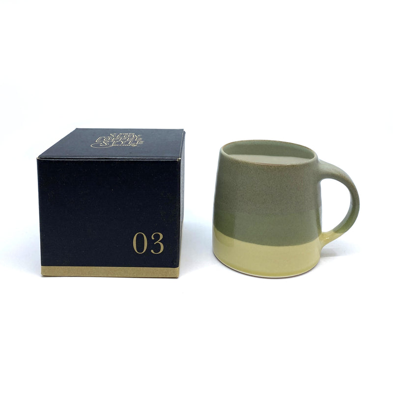 SCS-S03 Ceramic Mug - Moss Green & Yellow