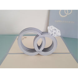 Silver Rings Pop Up Card