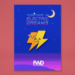 Together In Electric Dreams Enamel Pin