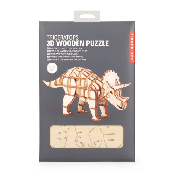 Triceratops 3D Wooden Puzzle