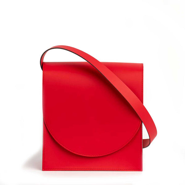 Ursula round flap - matt red