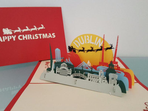 Christmas in Dublin Pop Up Card
