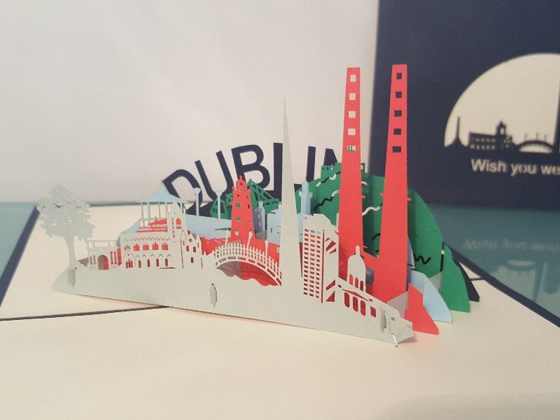 Missing You From Dublin: Pop Up Card