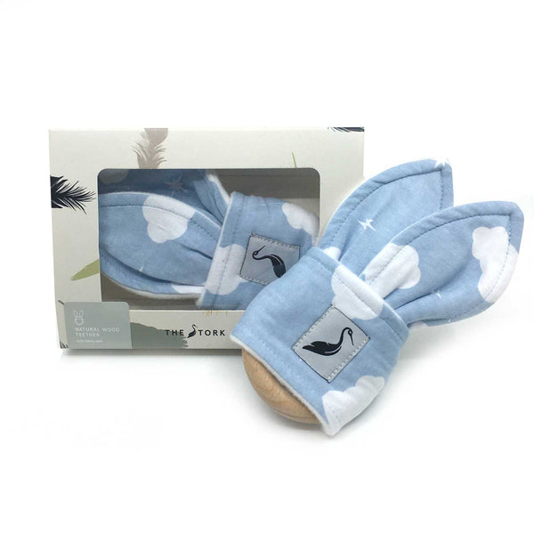 Wooden Teether - Blue