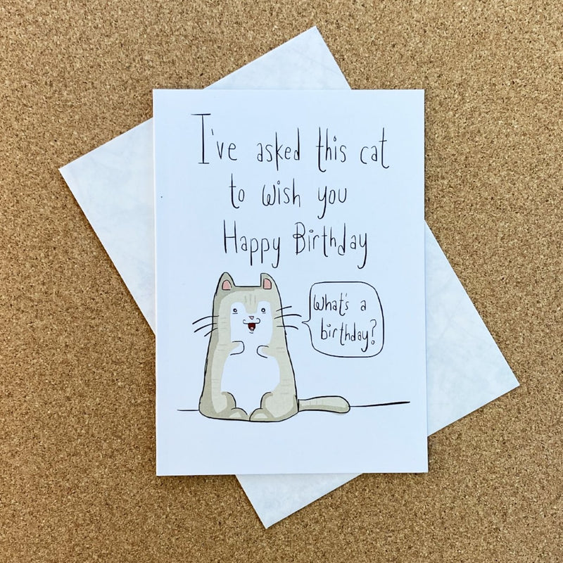 I've asked this cat to wish you a happy birthday