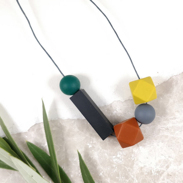 Silicone Necklace - Autumnal mix