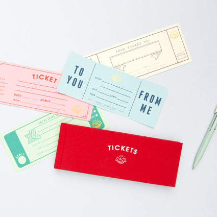 Book of Blank Tickets