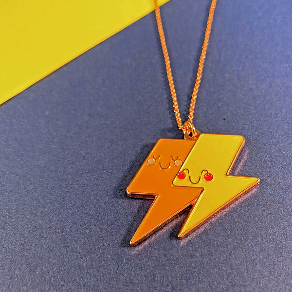Together In Electric Dreams Enamel Necklace
