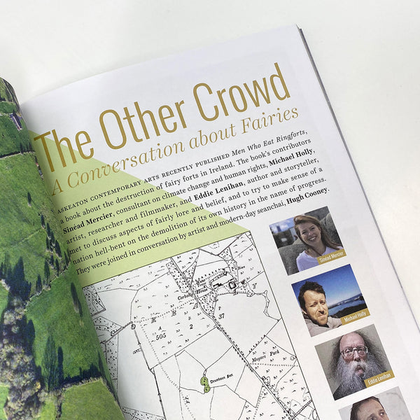 page from the magazine with the title 'the other crowd', a short piece of text, a sketched map and three pictures of peoples (a young owman, a middle aged man and an older man)