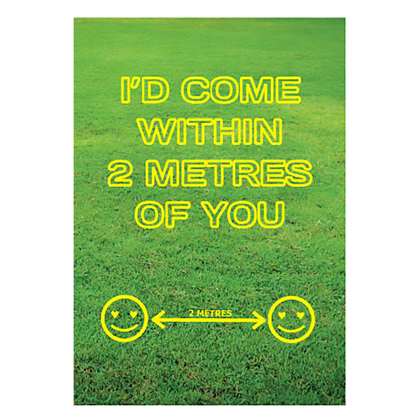 I'd come within 2 Meters of you - valentine's day card