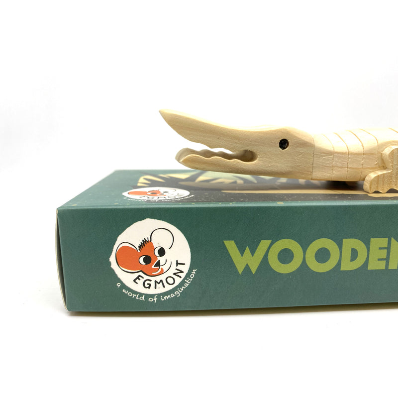 Paint Your Own Wooden Crocodile