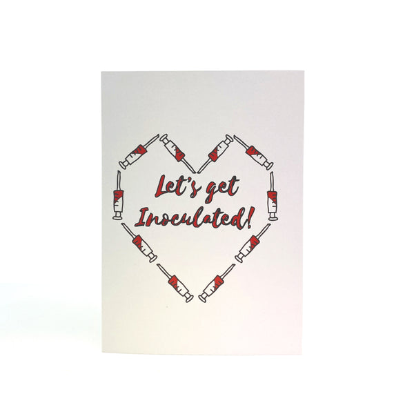 let's get inoculated - valentine's day card