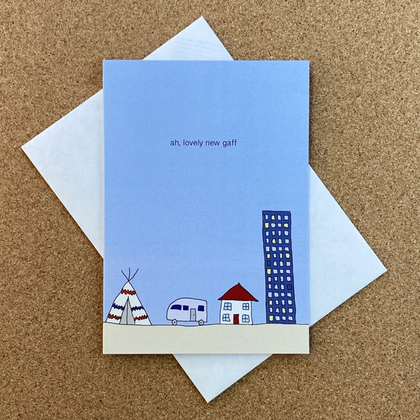 ah, lovely new gaff greeting card