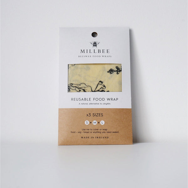 Beeswax Food Wrap -  Variety 3 pack