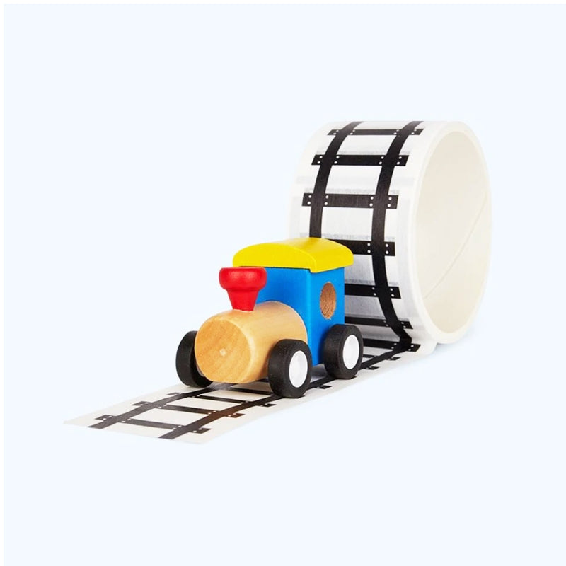 Railway Tape and Wooden Train