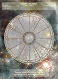 Personal Horoscope Art Wheel Chart - GALAXY