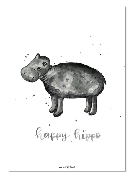 Happy Hippo // Fine Art Print