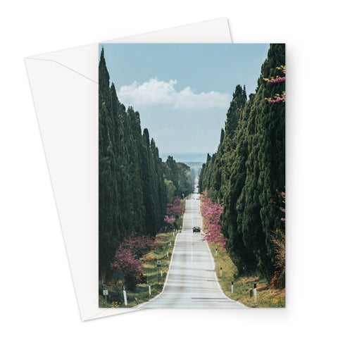 Road To Infinity // Greeting Card