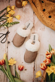 Tan Sheepskin Slippers - ONAIE