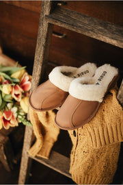 TAN LEATHER MULES - ONAIE