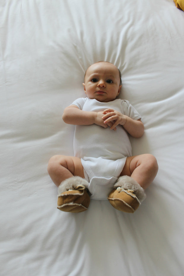 Baby Sheepskin Booties - ONAIE