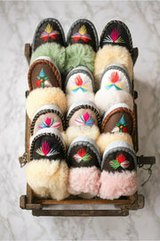 Lucky Dip Sheepskin Mules by ONAIE - ONAIE