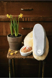 Butterfly Yellow Sheepskin Slippers - ONAIE