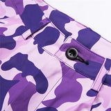 Purple Camo High Waisted Trousers