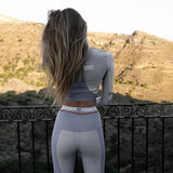 Grey Elastic Two Piece