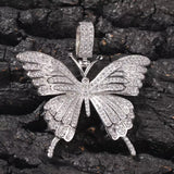 Iced Out Butterfly Necklace