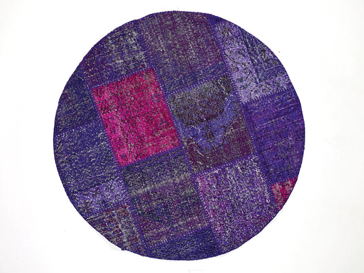 Dolce Vita Patchwork Purple Rugs Natural and Hand Knotted