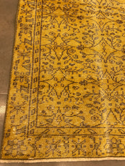 Free Shipping Turkish Vintage Carpet Natural and Hand Knotted 10198 (6.8x3.3 fee