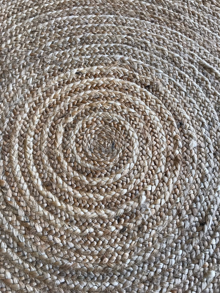 Free Shipping hand work round carpet accend braided jute rug 5.2x5.2 feet