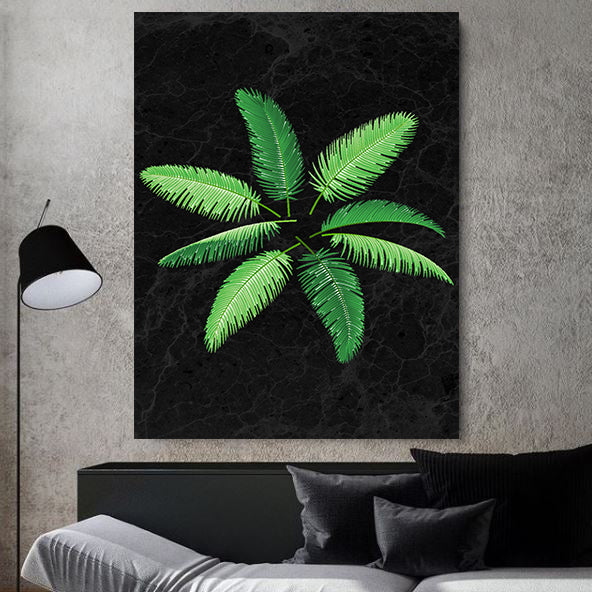 Palm Leaf Abstract Art