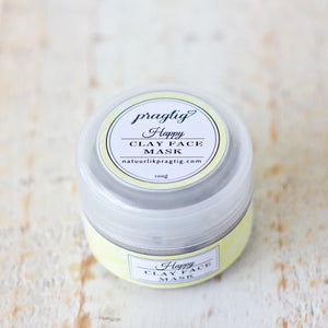 Happy Kaolin Clay Face Mask | Lemongrass & Eucalyptus | For Normal & Combination Skin